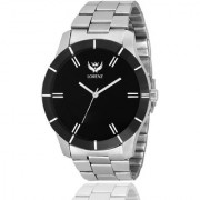 Lorenz 1066A Black Dial Stainless Steel Mens Boys Analog Wrist Watch