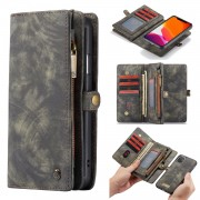 CASEME 008 Series Detachable Split Leather Wallet Phone Case Covering for iPhone 11 6.1 inch (2019) - Grey