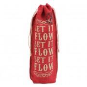 Let It Flow Hessian Christmas Bottle Gift Bag