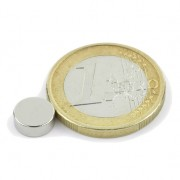 Magnet neodim disc, diametru 8 mm, putere 1,5 kg