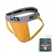 "MM Original Edition Bike Style Adult Supporter 2"" Waistband Jock Strap Underwear Yellow/Grey"