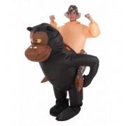 Disfraz de Hinchable Gorila y Aventurero - Creaciones Llopis