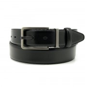 Men leather belt Willsoor 8531 in black color
