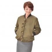 Soobinie表情豊かなフリルトリミング中わたMA-1【QVC】40代・50代レディースファッション