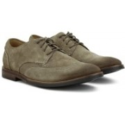 Clarks Broyd Wing Olive Suede Corporate Casual For Men(Olive)
