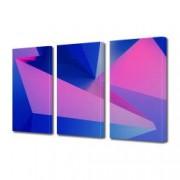 Tablou Canvas Premium Abstract Multicolor Geometrie In Culori 1 Decoratiuni Moderne pentru Casa 3 x 70 x 100 cm