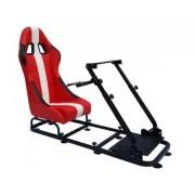 FK-Automotive siège de jeu pour PC et consoles de jeux faux cuir rouge/blanc