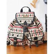 Elegant Print Oversize Shopping Backpack