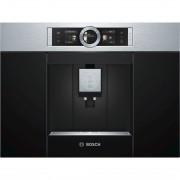 Espresso incorporabil Bosch CTL636ES1, rasnita incorporabila, rezervor lapte, putere 1600 W, 19 bari, display TFT interactiv, touch control, program de autocuratare, inox