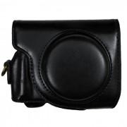 PU bolsa de cuero caja de la camara para la camara Canon G9X - negro