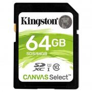 Cartão de Memória SDXC Kingston Canvas Select UHS-I SDS/64GB - 64GB