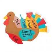 Thanksgiving Thankful Turkey Craft Kit - Makes 12