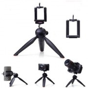 Mettle YT-228 Mini Tripod for mobiles (Black Supports Up to 600 Gram)