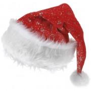 Merkloos Kerstmuts met zilveren sterretjes