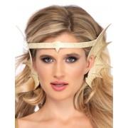 Vegaoo.es Diadema orejas de sirena dorada mujer