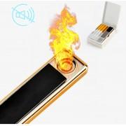 USB Elektrische Aansteker   Vlamloze Aansteker   Geen Olie of Gas   Milieuvriendelijk   Bestand tegen de wind   Makkelijk oplaadbaar aan je Laptop of PC   Gaat Lang Mee   Ideaal Cadeau voor Rokende Vrienden   Zwart