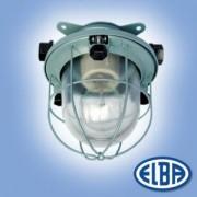 Por és páramentes lámpa SN-238-62 1x60W átlátszó üveg búra, fém ráccsal IP56 Elba