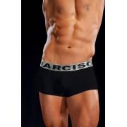 Narciso Premium Mini Boxer Brief Underwear JAMES PLATA BLACK/SILVER