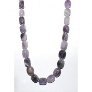 Just Women Genuine Tumbled Amethyst Necklace