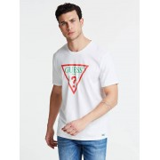 Guess T-Shirt Logo Rome - Wit multi - Size: Extra Small