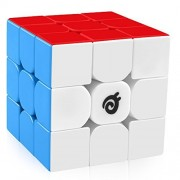 D-FantiX Magnetic 3x3 Speed Cube Stickerless 3x3x3 Magic Cube Magnets Puzzles Toy (Colorful)
