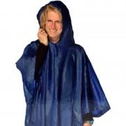 Lifetime Blauwe regenpocnho met capuchon voor volwassenen