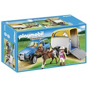 Playmobil SUV with Horse Trailer, Multi Color