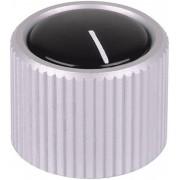 Buton metalic pentru aparate Mentor, transparent, fără capac și indicator, Ø ax 4 mm, tip 531.4