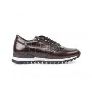 DIS - Design Italian Shoes Italo - Running bassa pelle abrasivata cocco testa di moro