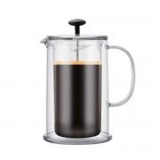Bodum THERMIA Cafetière/Théière à piston double paroi, 8 tasses, 1.0 l, en plastique Transparent