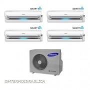 Samsung Condizionatore Samsung Quadri Split Inverter 9000+9000+9000+9000 9+9+9+9 Btu Ar9000m Wi-Fi Classe A Aj080fcj4eh/eu