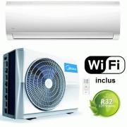 Aer conditionat Midea Blanc MA-12NXD0/MA-12N8D0, 12000 BTU, Functie Super COOL, Wi-Fi Control, Auto-diagnosticare, Inverter Quattro, R32, Clasa A++, Alb