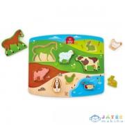 Hape Játék És Puzzle Egyben!-Farm (Hape, HP E1454A)