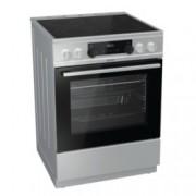 Готварска печка Gorenje EC6351XC, клас А, 4 стъклокерамични нагревателни зони, 67 л. обем, термоелектрически предпазител, врата с двойно стъкло, индикатор за остатъчна топлина, инокс