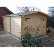 Foresta Garage en bois 42 mm 3.50 x 6.20 m (Livré et monté)