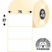 75 * 37 mm-es, 1 pályás direkt termál etikett címke (1000 címke/tekercs)
