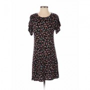 Love, Fire Casual Dress - A-Line: Black Print Dresses - Used - Size X-Small