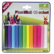 Plastilina 12 culori/set 180 g ECADA