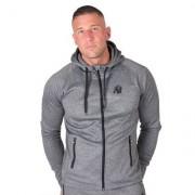 Gorilla Wear Bridgeport Zipped Hoodie Dark Grey