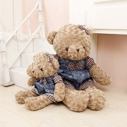 Ocamo Soft Stuffed Animals Dressed Teddy Bear Plush Dolls Couple Doll Bears Birthday Gift