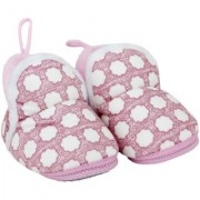 Neska Moda Baby Boys And Baby Girls Soft Pink Cotton Fur Booties For 0 To 12 Month BT307
