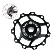 Kactus Rueda Jockey Pulley Shimano Aluminio Desviador Trasero SRAM 11t (negro)