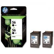 HP Tinteiro Deskjet 450 Series (C9502A) Nº56 Preto (2xC6656A)