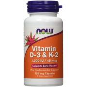 NOW Foods Vitamina D-3 & K-2 - 120vcaps