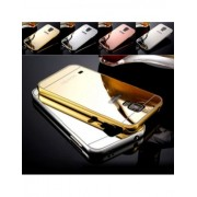 Bumper Metal C/ Proteção traseira espelhada para Samsung Galaxy S5