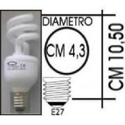 Lampada risparmio energetico 11W E27 Spiral Kapta