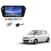7 Inch Full HD Bluetooth LED Video Monitor Screen with USB Bluetooth + 8 LED Reverse Parking Camera For Hyundai i10