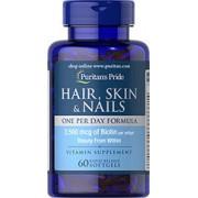 vitanatural hair skin nails - cheveux peau ongles - un par jour - 60 gélules