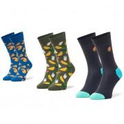 Комплект 3 чифта дълги чорапи unisex HAPPY SOCKS - XJUN08-0100 Цветен