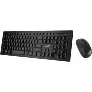 Kit wireless tastatura + mouse Genius SlimStar 8008, Negru